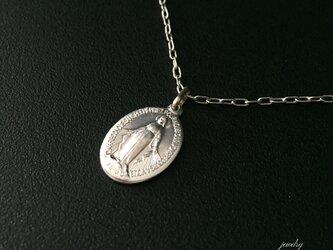 フランス奇跡のメダイのネックレス - silver chainの画像