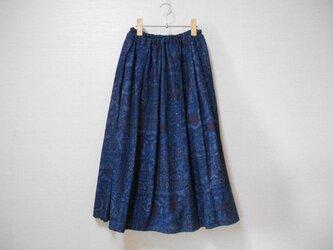 結城ちぢみの秋スカートの画像