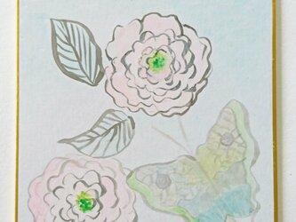 花色紙 蝶と花の画像