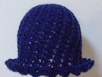 モヘアのスパイラル帽子の画像