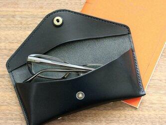 栃木レザー 眼鏡ケース メガネケース 日本製 送料無料 (黒、茶、キャメル、赤、青)の画像