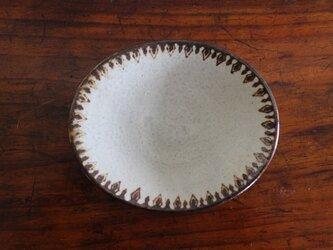 オーバル小皿(グレー/茶)〈b〉の画像