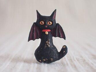 ブローチ こうもり黒猫(ボックス付き)の画像