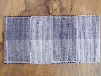 裂き織りティーマット ブルーグレー〜紫色 木綿の画像