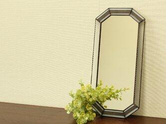 【H様オーダー品】真鍮レース飾りのミラーの画像