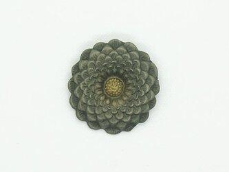 【漆】花型ブローチの画像
