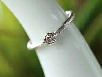 天然ピンクダイヤモンド指輪の画像