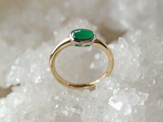 カボッションエメラルド指輪の画像