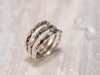 Wave3連リング silver925 ringの画像