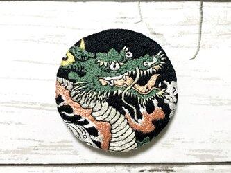 手刺繍浮世絵ブローチ*鍬形蕙斎(北尾政美)「八岐の大蛇」よりの画像