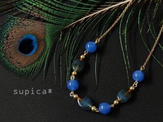 s147 GN422【長さ4通り】ブルーメノウのネックレスの画像
