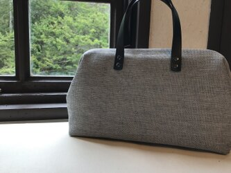 Boston bag M size [Växbo Lin]  Sweden 青サンドコーンの画像