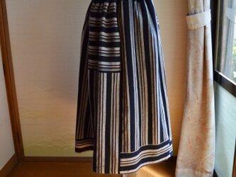 着物リメイク 木綿ギャザースカート J-27の画像