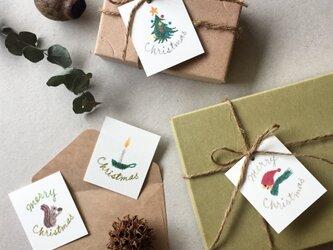 小さなクリスマスカード タグ 40枚の画像