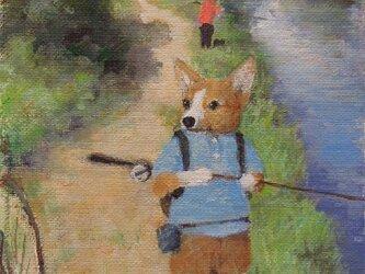 釣り・コーギーの画像