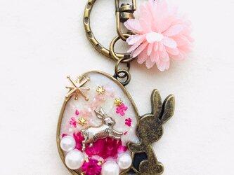 ウサギキーホルダー(ピンク)の画像