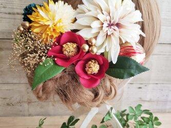 花姫 ダリアと椿の髪飾り10点Set No599の画像