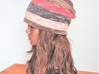 CAP:Thai cotton - ethnic redの画像
