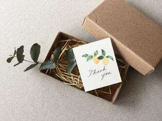 小さなレモンのメッセージカード タグ 40枚の画像