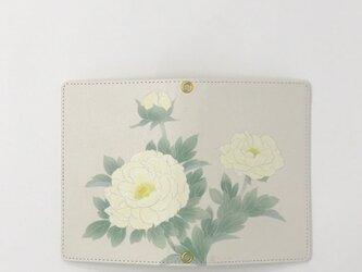パスポートケース /  黄牡丹 きぼたん * 乳白色の画像