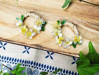 プルメリアの花冠 樹脂ピアスの画像