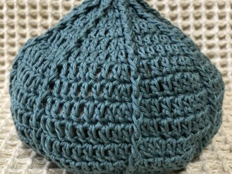 ☘️くりくり帽子*(深水色)*ベビー・キッズ・大人の画像