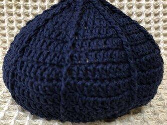 ☘️くりくり帽子*(紺色)*ベビー・キッズ・大人の画像