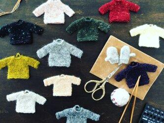 小さなニットセーターの画像