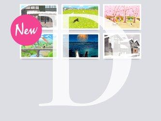 New ポストカード Dセット(作家手作り-6枚入)の画像