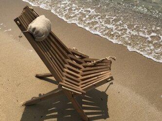stick chair 麻枕付きスティックチェアの画像