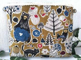 北欧の森マスタード 2wayバッグインバッグの画像