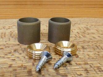 真鍮製  パイプを受けるソケット Φ10㎜用 アクセサリをひっかける時等に。/ DIY シャビー パイプ固定 金具の画像