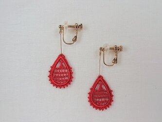 絹糸刺繍 Lysイヤリング  -1962の画像