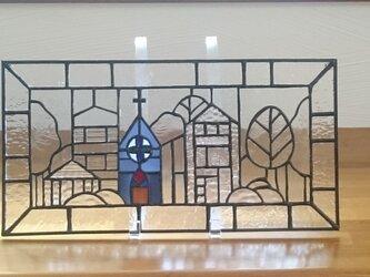 ステンドグラス  小さな教会の画像