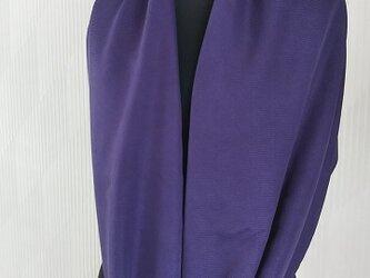 紫根染 大判 シルク ストール 匠の画像