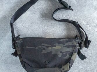 ONE SHOULDER mini Camouflage Blackの画像