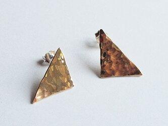 真鍮Brassピアス一点もの三角の画像