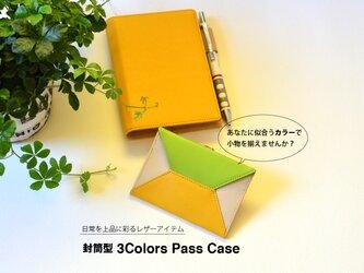 【自由にカスタマイズ!】本革製 3Colors 封筒型パスケース MK−3007−V-Cの画像