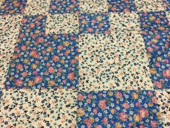 木綿のパッワークの布の画像