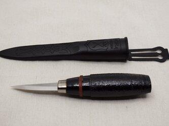 モーラナイフウッドカービン120 綿糸巻黒漆朱漆 の画像