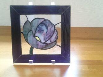 ステンドグラス 花の画像