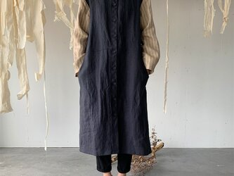 linen inaho coat[navy]の画像
