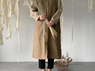 linen inaho coat[khaki]の画像