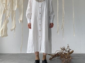 linen bosom one-piece[French linen  off-white]の画像