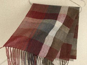 手織りストール A28の画像