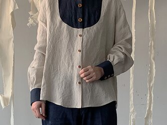 linen washer shirt[belgium linen]の画像