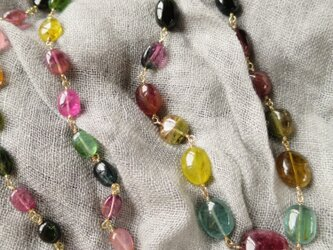 K18 Tourmaline Candy Necklaceの画像