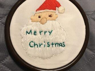 刺繍飾り サンタクロースの画像