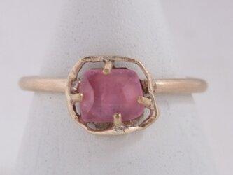 ピンクトルマリンのリングの画像