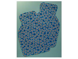 PURE*汗取りパッド*2枚セット Wガーゼ マーガレットブルー チェック柄とのリバーシブルの画像